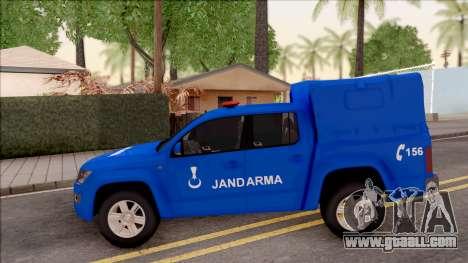 Volkswagen Amarok Turkish Gendarmerie Vehicle for GTA San Andreas left view