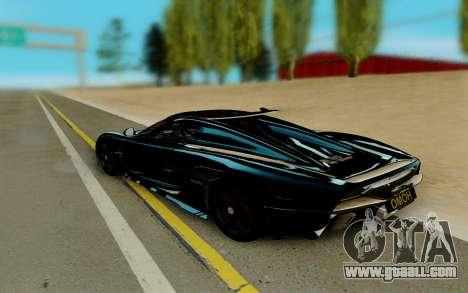 Koenigsegg Regera for GTA San Andreas left view