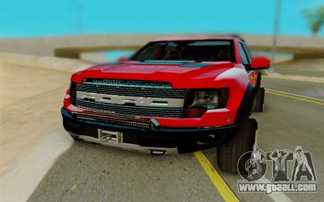 Ford F150 Raptor for GTA San Andreas back view