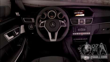 Mercedes-Benz E63 AMG for GTA San Andreas inner view