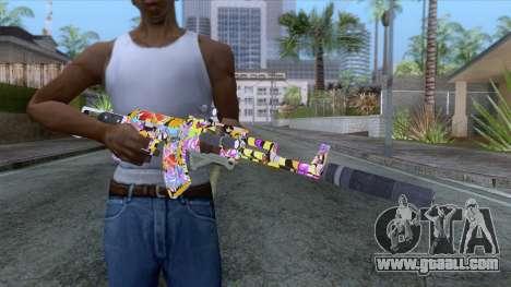 CoD: Black Ops II - AK-47 Graffiti Skin v2 for GTA San Andreas third screenshot