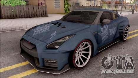 Nissan GT-R Nismo 2017 DDK for GTA San Andreas