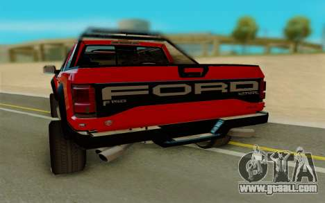 Ford F150 Raptor for GTA San Andreas back left view