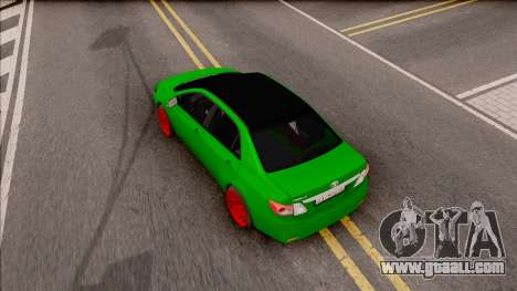 Toyota Corolla Green Edition for GTA San Andreas back view