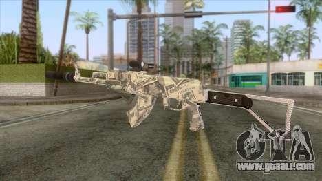 CoD: Black Ops II - AK-47 Benjamin Skin v2 for GTA San Andreas second screenshot
