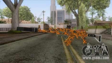 CoD: Black Ops II - AK-47 Lava Skin v2 for GTA San Andreas