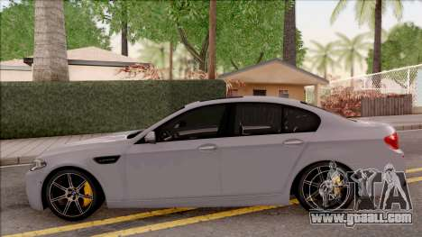 BMW M5 F10 30 Jahre for GTA San Andreas left view