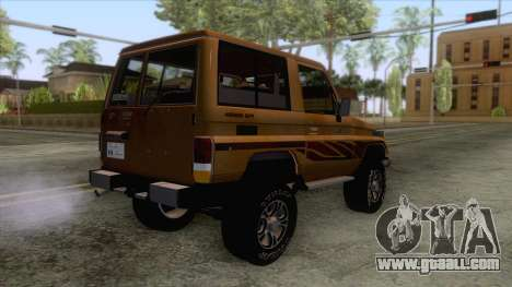 Toyota Land Cruiser FJ70 2005 for GTA San Andreas left view