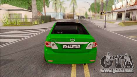 Toyota Corolla Green Edition for GTA San Andreas back left view