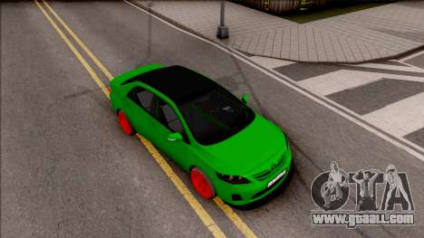 Toyota Corolla Green Edition for GTA San Andreas right view