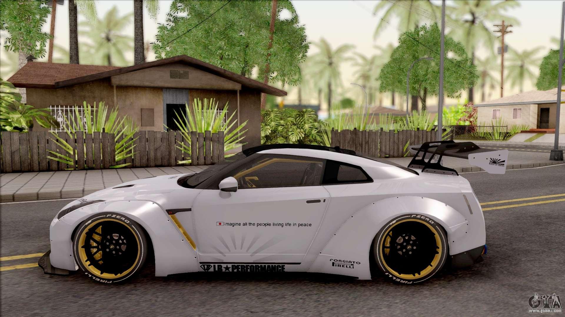 Gtr Alpha 12 >> Nissan GT-R R35 LB Walk for GTA San Andreas