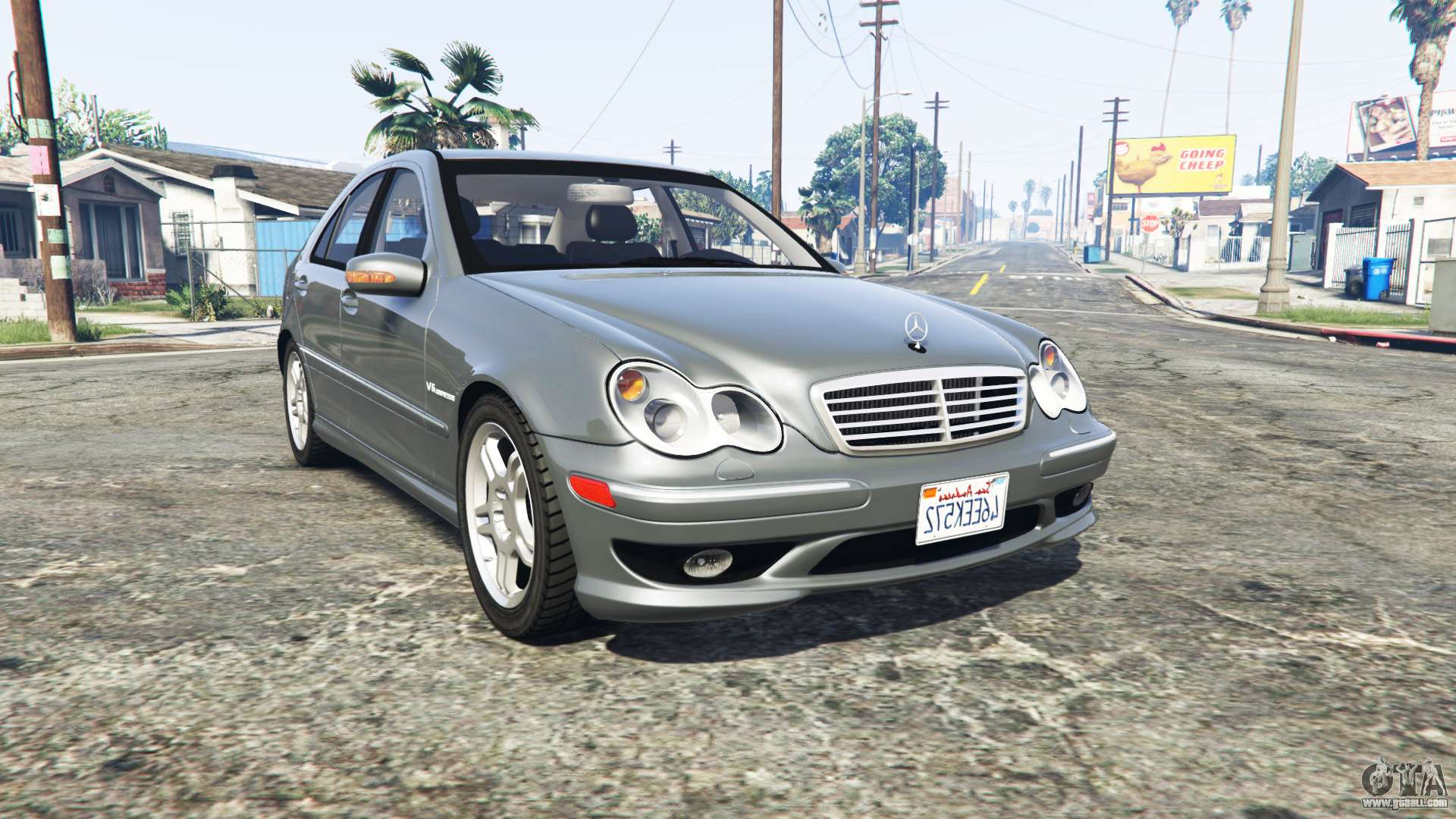 mercedes benz c32 amg w203 2004 replace for gta 5. Black Bedroom Furniture Sets. Home Design Ideas