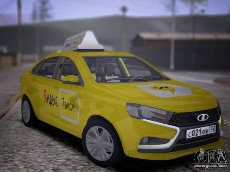 Lada Vesta Yandex Taxi (LVYT) Beta 0 1 for GTA San Andreas
