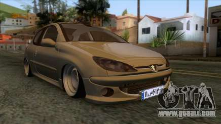 Peugeot 206 Full Sport Edit for GTA San Andreas