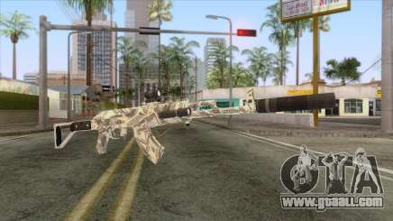CoD: Black Ops II - AK-47 Benjamin Skin v2 for GTA San Andreas