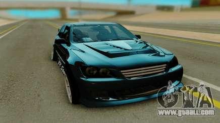 Toyota Altezza black for GTA San Andreas