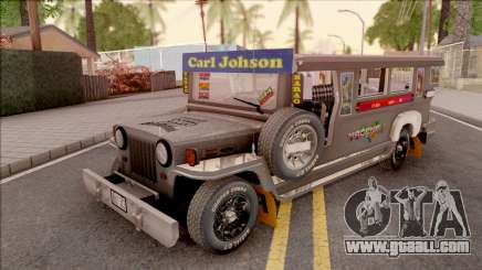 Galvanized Jeepney for GTA San Andreas