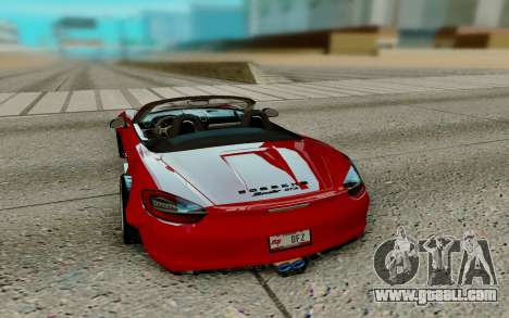 Porsche Cayman for GTA San Andreas back left view