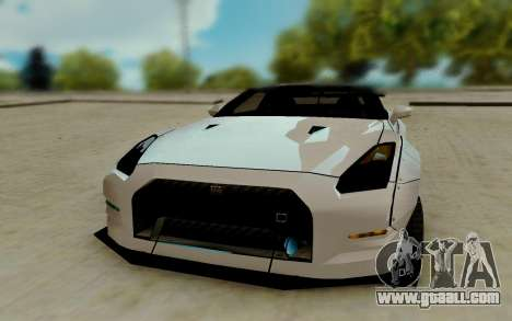 Nissan GTR R35 for GTA San Andreas back view