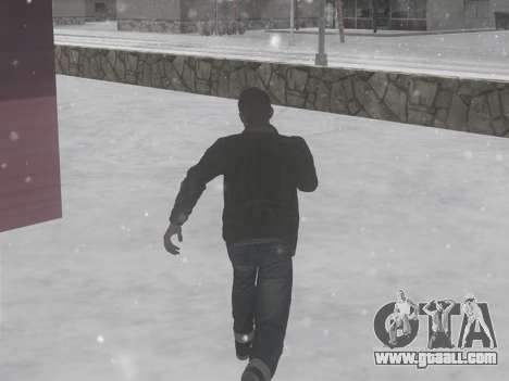 Winter footsteps for GTA San Andreas