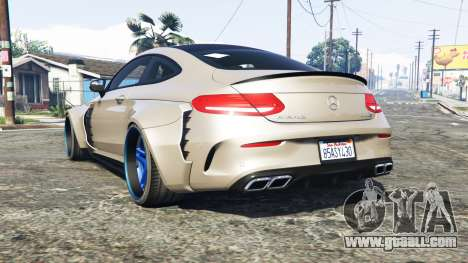 GTA 5 Mercedes-Benz C 63 S AMG widebody [add-on] rear left side view