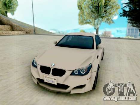 BMW M5 E60 Lumma Edition for GTA San Andreas back view