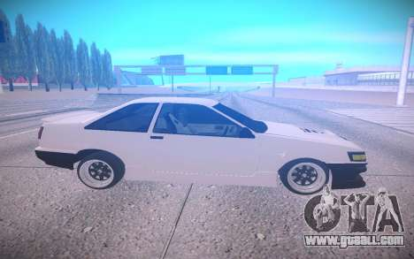 Toyota Corolla AE85 Levin for GTA San Andreas left view