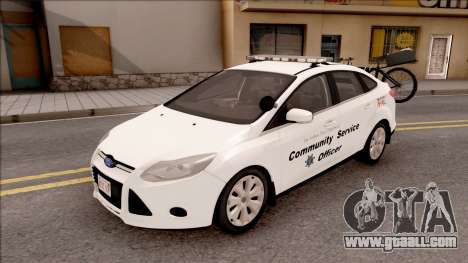 Ford Focus 2013 Community Service Officer for GTA San Andreas