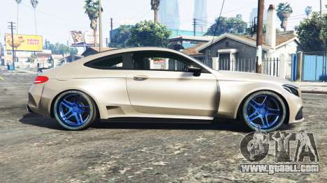 GTA 5 Mercedes-Benz C 63 S AMG widebody [add-on] left side view
