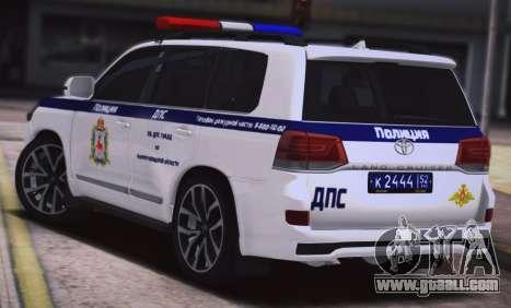 Toyota Land Cruiser 200-DPS Nizhny Novgorod regi for GTA San Andreas