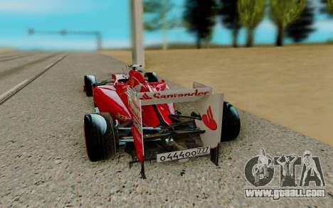 Ferrari Scuderia F2012 for GTA San Andreas back left view