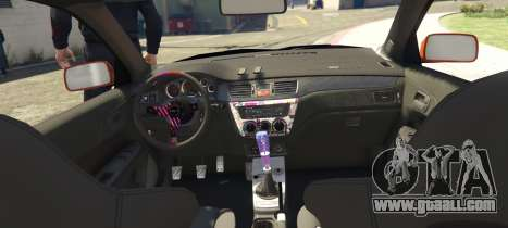 GTA 5 Mitsubishi Lancer Evolution IX Clinched rear left side view