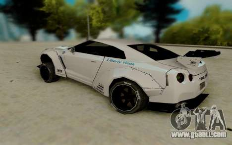 Nissan GTR R35 for GTA San Andreas back left view