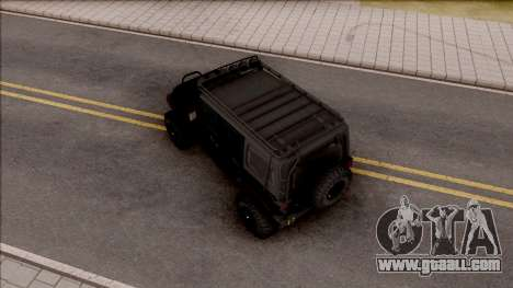 Jeep Wrangler Rubicon Off-Road for GTA San Andreas back view