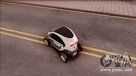 Renault Twizy 2012 for GTA San Andreas back view