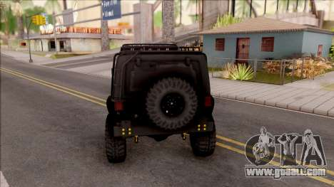 Jeep Wrangler Rubicon Off-Road for GTA San Andreas back left view
