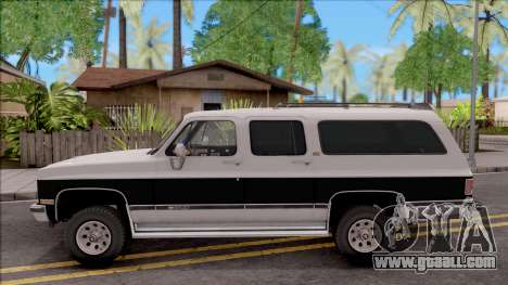 Chevrolet Suburban 1989 IVF for GTA San Andreas left view