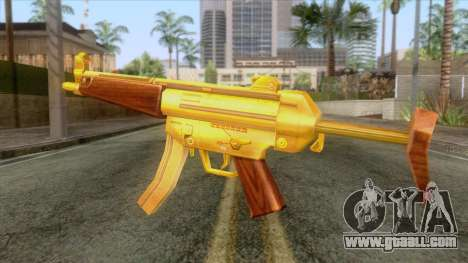 Gold MP5 for GTA San Andreas second screenshot