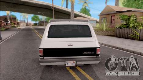 Chevrolet Suburban 1989 IVF for GTA San Andreas back left view
