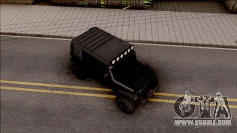 Jeep Wrangler Rubicon Off-Road for GTA San Andreas right view