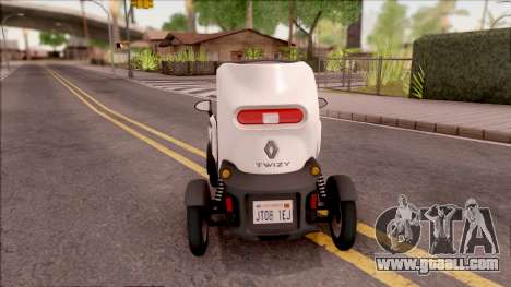 Renault Twizy 2012 for GTA San Andreas back left view