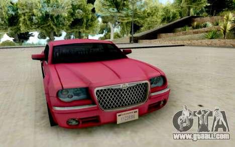 Chrysler 300C 2008 for GTA San Andreas back view