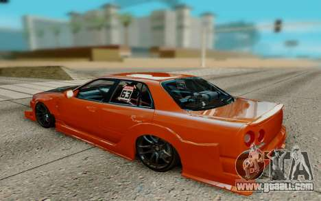 Nissan Skyline R34 Ura for GTA San Andreas right view