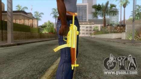 Gold MP5 for GTA San Andreas