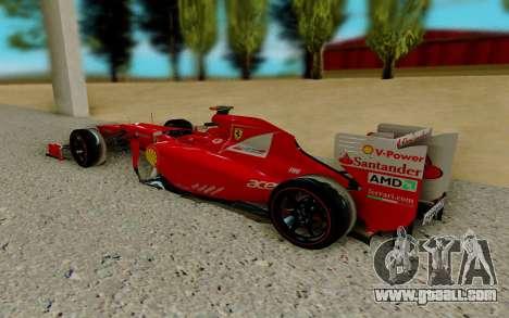 Ferrari Scuderia F2012 for GTA San Andreas right view