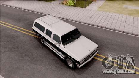 Chevrolet Suburban 1989 IVF for GTA San Andreas right view