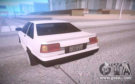 Toyota Corolla AE85 Levin for GTA San Andreas back left view