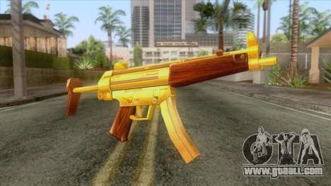 Gold MP5 for GTA San Andreas
