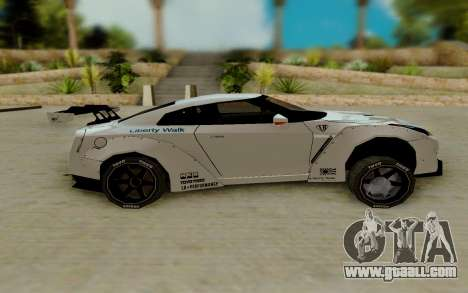 Nissan GTR R35 for GTA San Andreas left view