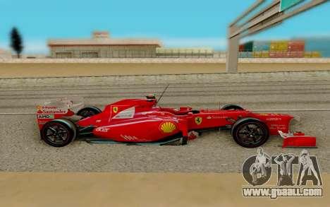 Ferrari Scuderia F2012 for GTA San Andreas left view